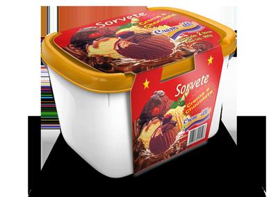 Pote Creme e Chocolate 2L